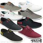 Henleys Mens Lace Up Canvas Shoes pumps  UK 7-11 Plimsolls casual trainers daps