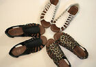 New Women Open Toe Strappy Gladiator Zipper Sandals Shoes Size