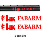 2x FABARM Vinyl Decal Sticker. 3 sizes. 9 colours