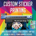 Sticker Printing Service Custom Printed vinyl stickers labels any shape & size