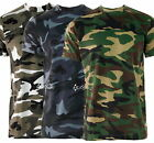 Mens Camouflage Army Military Training T Shirt Short Sleeve Top S-5XL Paintball
