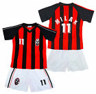 Boys MILAN Logo Sport T-Shirt Top & Shorts Outfit Kit Set 2-14 Years NEW