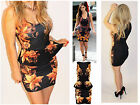 Womens Ladies Celebrity Bodycon Summer Pencil Midi Dress