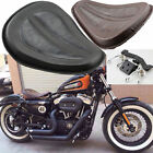 Large Solo Seat + Brackets Spring for Harley Sportster XL1200 XL883 48 2004-2014