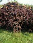 """61"""" Iron Finial and Heart Trellis for Your Flowers and Vines  - Garden Structure"""
