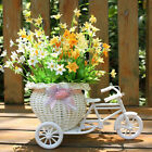 Bike Design Rattan Vase Basket Flowers Home Decor Wedding Photo Props 3 Style