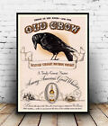 Old Crow , old bourbon advert , poster, wall art, reproduction.