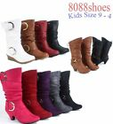 Youth's Girl's Colors Styles Round Toe Zip Lace Wedge Heel Boot  Size 9 - 4 NEW