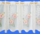 ROSE PINK CAFE NET CURTAIN - ATTRACTIVE LACE DESIGN - SOLD BY THE METRE