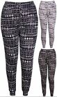 Womens Plus Size Aztec Printed Ladies Pocket Ali Baba Harem Long Pants Trousers