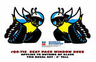 GE-QG-716 1970 DODGE - SCAT PACK BEE DECAL - OUTSIDE WINDOW INSTALL - LICENSED