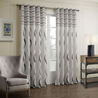 3QMart 2 Panel Thermal Gromment Window Curtain Drapes Eyelet Top Grey Ready Made