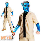Jake Sully Avatar Mens Fancy Dress Adult Halloween Movie Costume Outfit + Mask