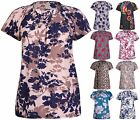 Womens Plus Size Printed Ladies Short Sleeve Tunic Long Smock T-Shirt Dress Top