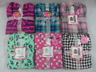 Womens Joe Boxer Pajamas Flannel 2 Pc Set Cats Leopard Plaids