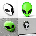 Cool Full Metal 3D Alien Head Logo Motorcycle Sticker Badge Emblem Car Decals