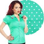 Sourpuss Sweet Bow Darling Top Retro Pin Up Rockabilly Office Tattoo Cute Polka