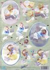 Children Playing Die Cut Dufex 3d Decoupage Card Making Craft NO CUTTING REQ