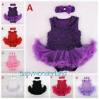 Baby Girls 2 Pcs Dress Tutu Set Party Birthday Photo Prop Size 000,00,0,1