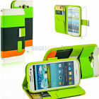 Wallet Card Holder PU Leather Pouch Flip Case cover for Sansung  galaxy s3 +film