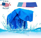 Ice Cold Instant Cooling Towel Running Jogging Gym Chilly Pad Sports Yoga US image