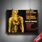 GOLDFINGER 1964 JAMES BOND MOVIE POSTER A3 A4  SEAN CONNERY Nostalgic Film Print £3.99 GBP
