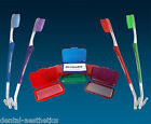 Orthodontic Toothbrush & Orthosil Silicone Wax ~ Double Ended VTrim Brush Braces