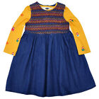 Girls Denim Dress & Russian Doll Long Sleeve Top Set 6 Months to 6 Years NEW