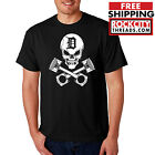 DETROIT PISTONS PIRATE TSHIRT Crossed shirt Made in the D Skull t-shirt 313 USA on eBay