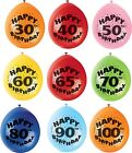 Adult Happy Birthday Balloons -  Age 30-100 - Air Fill Only