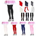 Внешний вид -  Girls Junior Kids Pantyhose Tights Stretch Winter Stocking  White Black XS - XL