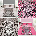 LEAOPARD ANIMAL PRINT PINK CREAM NATURAL QUILT DUVET COVER BEDDING SET NEW