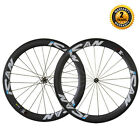 ICAN 56mm Deep 25mm Wide Carbon Clincher Road Bike Wheelset with Novatec Hub