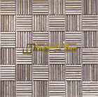 """Marble Mosaic Tile, """"Match Stick Collection"""", MM 5202 - White Oak, Polished"""