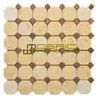 """Marble Mosaic Tile, """"Dot Collection"""" MM 7302 - Walnut, Honed"""