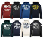 Crosshatch Men's Printed Hooded Sweatshirt Fleece Hoodie Blue Navy Black New Top
