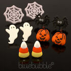 FUNKY HAUNTED HALLOWEEN EARRINGS FUN NOVELTY FANCY DRESS RETRO KITSCH SCARY EMO