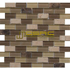 "Glass and Stone Mosaic Tile, ""Chocolate Collection"" GM 2202 - Brick, 1""X2"""