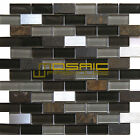 "Glass, Stone, and Metal Mosaic Tile, ""Litho Collection"" GM 3202 - Brick, 1""X2"""