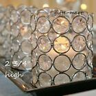 Crystal PRISM gem GLASS diamond BLING votive Candle holder Wedding centerpiece