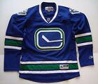 Vancouver Canucks Blue Women's NHL Reebok Premier Hockey Jersey Authentic NEW