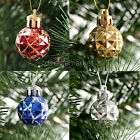 12x Christmas Ornament Shiny Glitter Bauble Edged Ball Hanging Xmas Tree New
