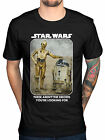 Official Star Wars Droids T-Shirt R2D2 C3PO Galaxy New Hope Lucasfilm Force Jedi