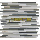 "Glass and Stone Mosaic Tile, ""Horizon Collection"" GM 6101 - Morning, Strip"