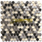 "Glass and Metal Mosaic Tile, ""Planet Collection"" GM 8102 - Mercury, 3/4"" Rounds"