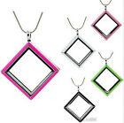 1pc magnetic glass floating charm lockets enamel (chains included) fine Jewelry