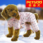 PETSOO Dot printing & flannel hat four-legged winter Dog Clothes XS-XXL 6 size