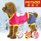 PETSOO Dog Coat England style Cotton printed four-legged winter Dog Clothes