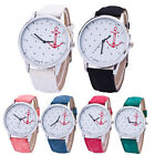 HOT Casual Women's Crystal Leather Band Anchor Analog Quartz Wrist Watch NEW