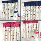 STARS SUPERSOFT KIDS CHILDRENS READY MADE THERMAL BLACKOUT CURTAINS PINK BLUE